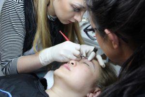 Make-up 3 Techniken in einer Ausbildung